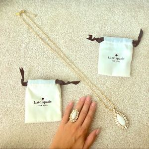 Kate Spade necklace and ring